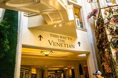 威尼斯式旅馆和赌博娱乐场 库存照片
