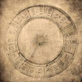 威尼斯式时钟的葡萄酒图象 库存照片