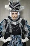 威尼斯式服装的执行者 免版税库存照片