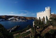 威尼斯式样式别墅在Loutra基斯诺斯岛 免版税库存图片