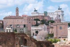 威尼斯式正方形在罗马和卡比托利欧博物馆 库存照片