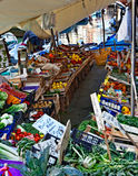 威尼斯式浮动的市场 库存照片