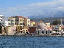 威尼斯式港口,干尼亚州老镇  免版税库存照片