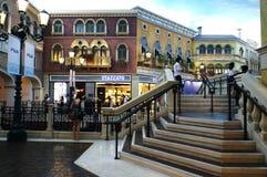 威尼斯式澳门购物中心 图库摄影