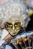 威尼斯式狂欢节屏蔽 免版税库存图片
