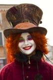 威尼斯式狂欢节屏蔽 免版税库存照片