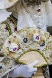 威尼斯式狂欢节服装 免版税库存照片