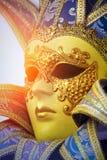 威尼斯式狂欢节的屏蔽 意大利威尼斯 免版税库存照片