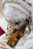 威尼斯式狂欢节面具 免版税库存图片