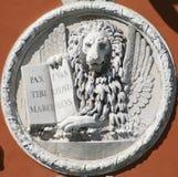 威尼斯式狮子的雕塑 免版税库存照片