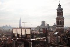 威尼斯式的横向 E 库存照片
