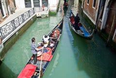 威尼斯式的长平底船 免版税图库摄影