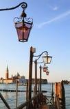 威尼斯式的闪亮指示 库存图片