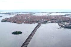 威尼斯式盐水湖, VeniceÂ铁路桥梁, Ponte della LibertÃ,自由桥梁  免版税库存图片