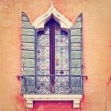 威尼斯式窗口 免版税库存图片