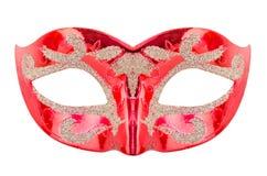 威尼斯式红色狂欢节面具 库存照片