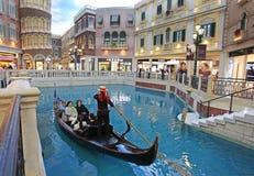 威尼斯式赌博娱乐场内部在澳门 图库摄影