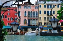 威尼斯式运河细节 免版税库存照片