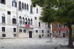 威尼斯式都市场面 免版税库存照片