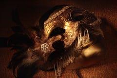 威尼斯式金黄的屏蔽 库存照片