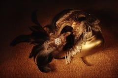 威尼斯式金黄的屏蔽 图库摄影