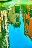 威尼斯式镜子-水反射的威尼斯 免版税图库摄影