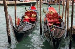 威尼斯式长平底船 库存图片