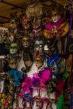 威尼斯式面具,威尼斯,威尼斯,意大利狂欢节  免版税图库摄影