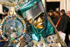 威尼斯式面具,威尼斯,意大利 免版税库存图片