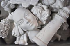 威尼斯式面罩白色 库存图片