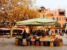 威尼斯式食物摊位 图库摄影