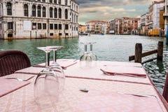 威尼斯式餐馆 库存照片