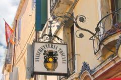 威尼斯式餐馆Fiaschetteria托斯卡纳在威尼斯,意大利 库存图片