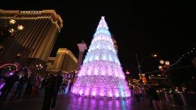 威尼斯式,拉斯维加斯2013年圣诞节 股票视频