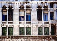 威尼斯式结构上的详细资料 库存照片
