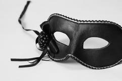 威尼斯式黑色狂欢节的屏蔽 库存图片