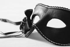 威尼斯式黑色狂欢节的屏蔽 免版税库存照片