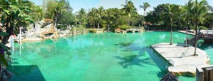 威尼斯式Coral Gables迈阿密的池 免版税库存照片