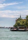 威尼斯式Waterbus岗位 免版税库存照片