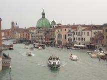 威尼斯意大利在天之前 免版税图库摄影