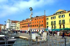威尼斯江边 库存照片