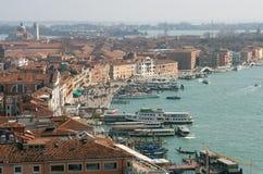 威尼斯江边 免版税图库摄影
