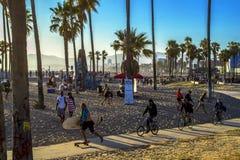威尼斯海滩木板走道 免版税库存图片