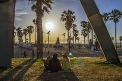 威尼斯海滩木板走道 免版税库存照片