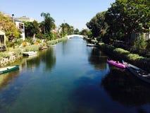 威尼斯海滩洛杉矶运河 免版税库存图片