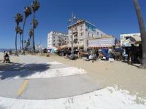 威尼斯海滩自行车道路 免版税库存照片