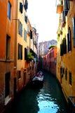 威尼斯湾、德贝内西亚、威尼斯和运河看法  库存照片