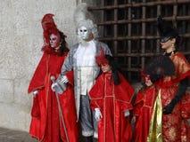 威尼斯狂欢节服装 免版税库存图片