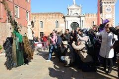 威尼斯狂欢节的摄影师 库存图片