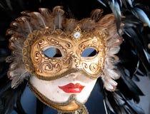 威尼斯狂欢节的美好的面具  库存图片